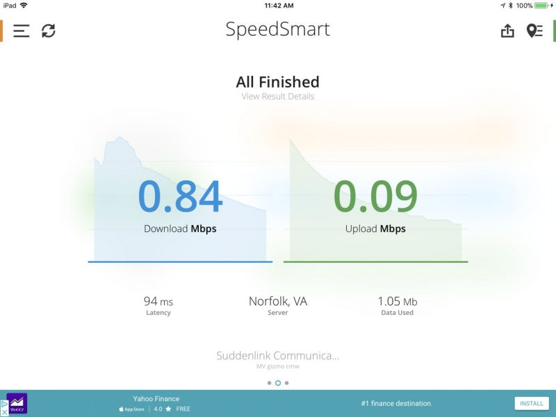 Marina WiFi Speed test