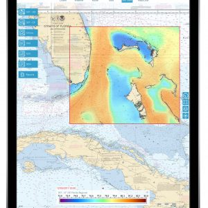mazu SportFishing SST overlay on chart