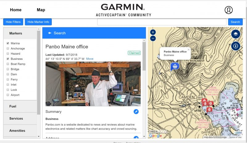 Testing ActiveCaptain's new Marine Business claiming and photo features