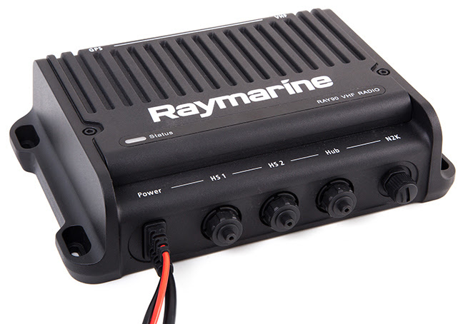 Ray90/91's black box transceiver module hides out-of-sight keeping your boat looking ship-shape.
