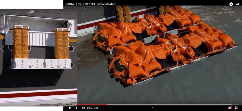 VIKING quad LifeCraft automatic deployment details