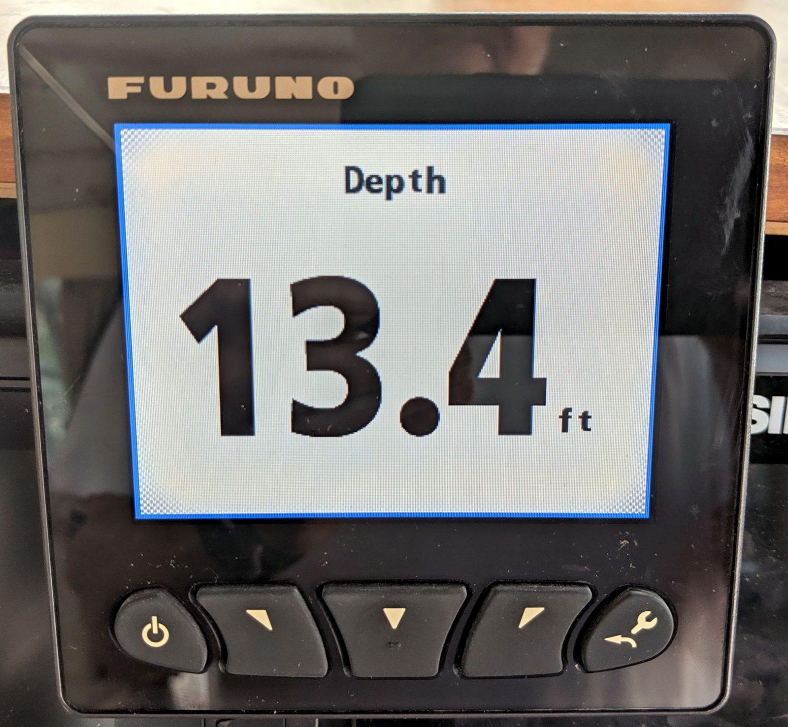 Furuno FI70 showing N2K Depth data in BIG digits
