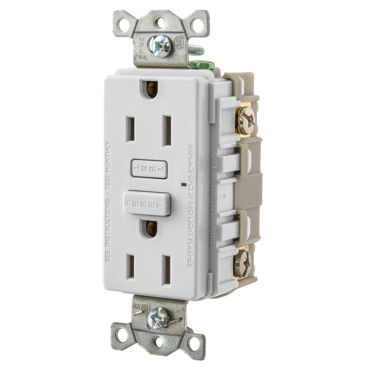 A point of use 15a GFCI equipped outlet