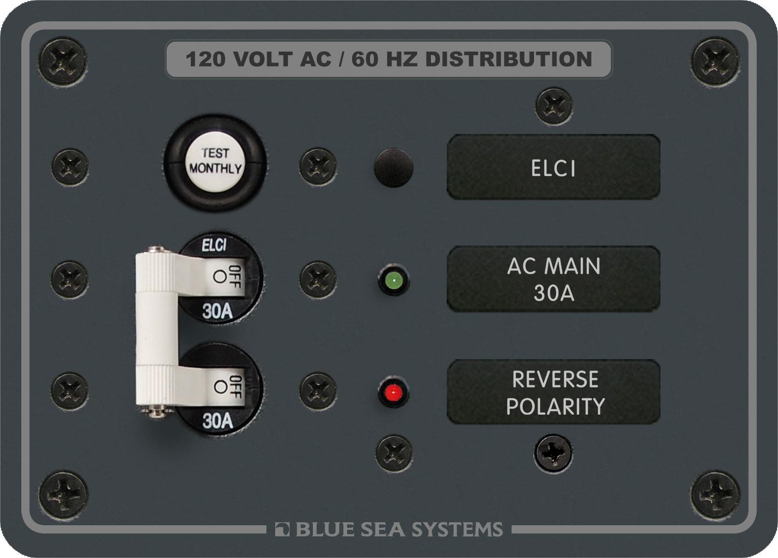 ELCI breaker for installation on a boat