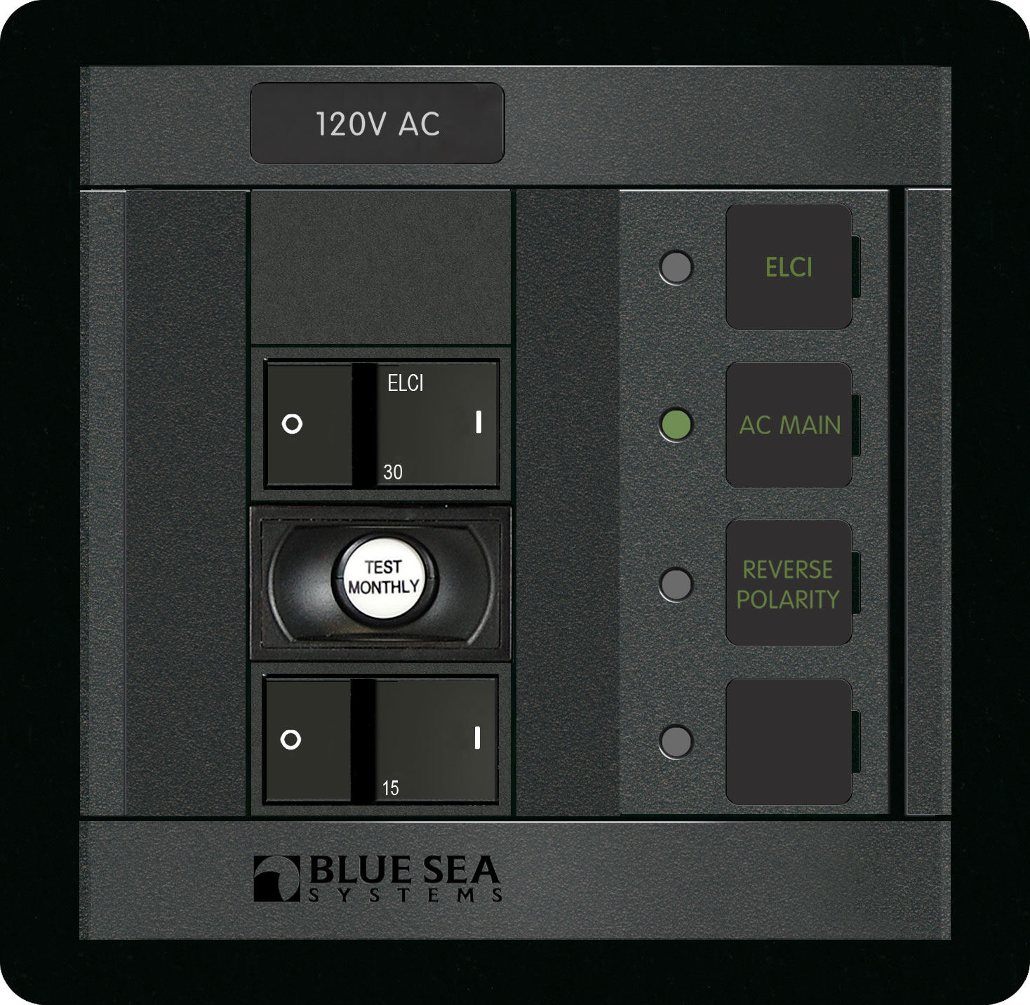An ELCI panel for use on a boat