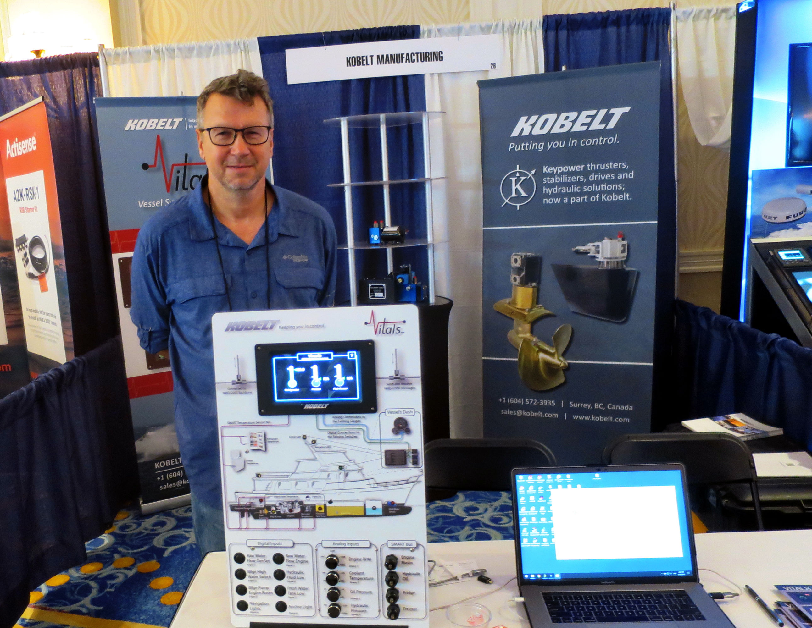Kobelt Vitals product manager Jordan Shishmanov at NMEA/RTCM Conference 2019