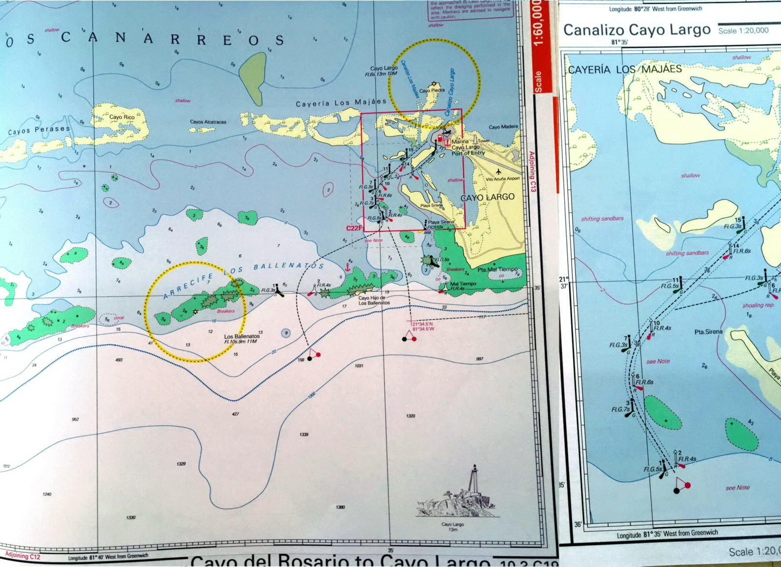 NV Charts can already create good paper charts based on vector data (in this case Cuba)